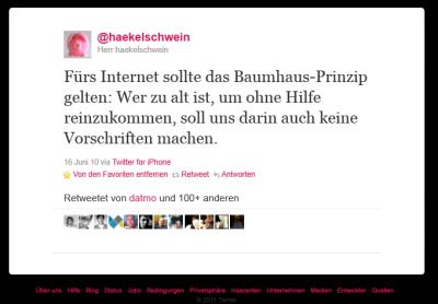 baumhaus-tweet von haekelschwein