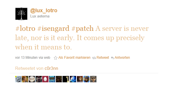 A server is never late...