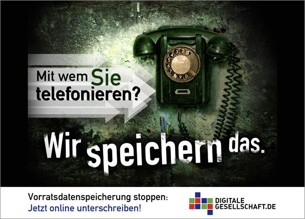 Mit wem Sie telefonieren? Wir speichern das