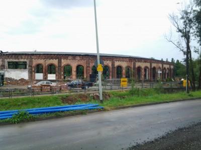 Baumaßnahmen am Bad Homburger Lokschuppen