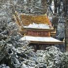 Der Siamesische Tempel im Schnee