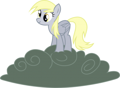 Derpy on Storm Cloud - Dash-o-Salt on deviantART - CC BY