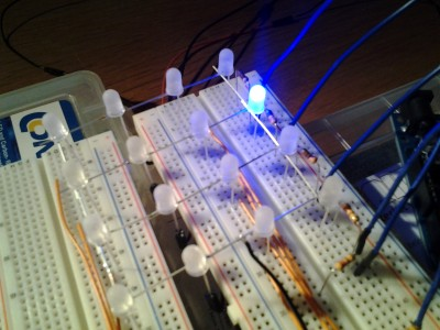 Erste Ebene für meinen 4x4x4er LED-Cube