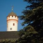Weißer Turm in der Morgensonne