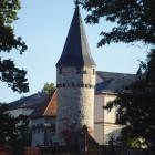 Blick auf den Hexenturm und die Altstadt von Bad Homburg