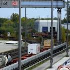 Einfahrtsgleis zum DUSS und der Kranbahn